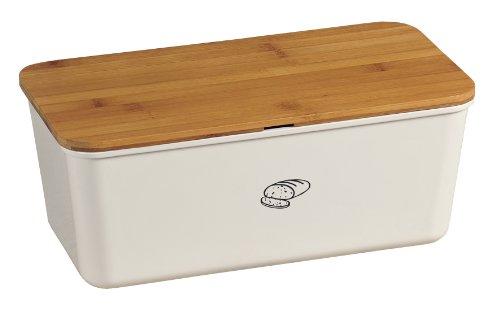 Kesper 18090 Brotbox Melamin Bambus, weiß